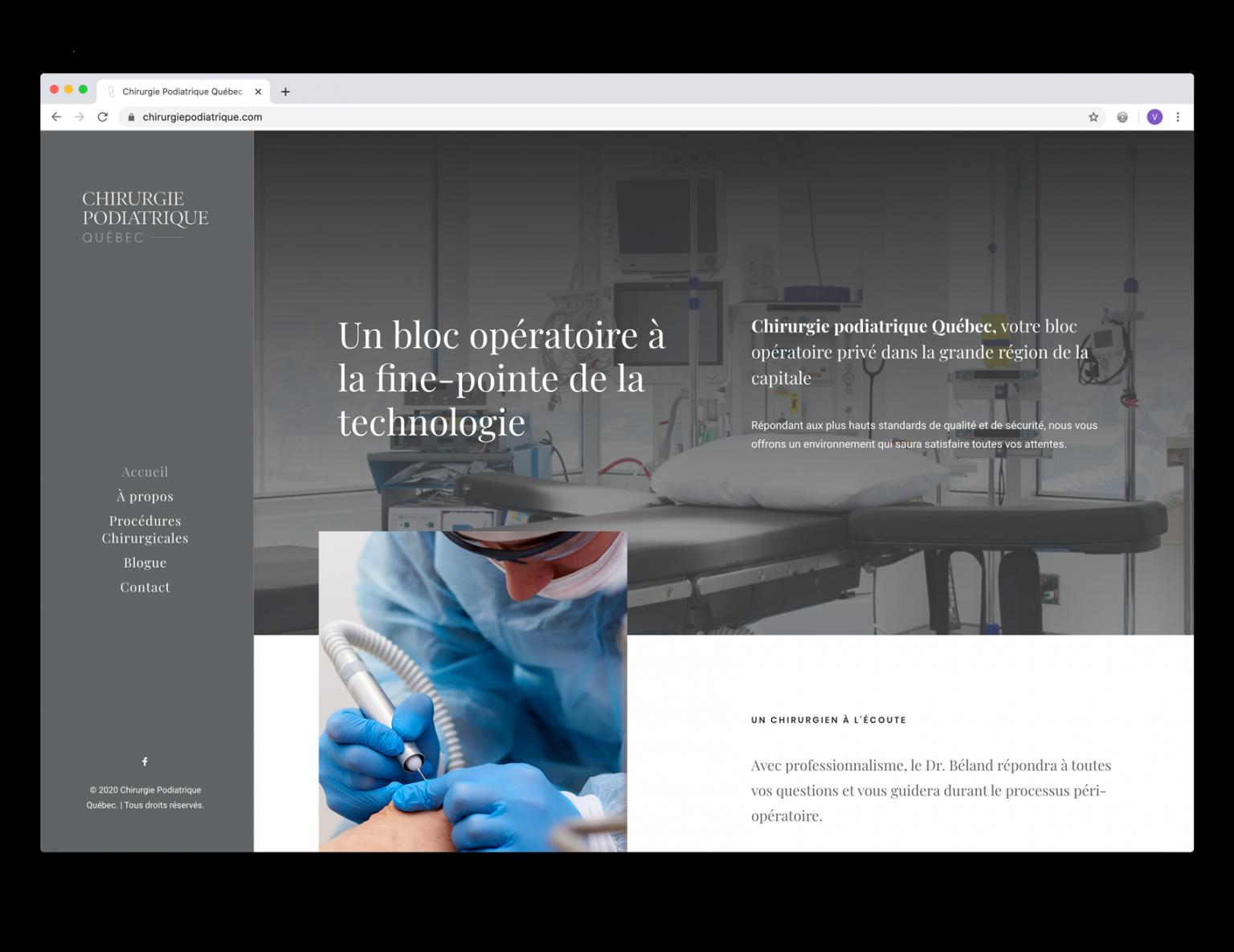 DezWeb_Realisations_ChirurgiePodiatriqueQC